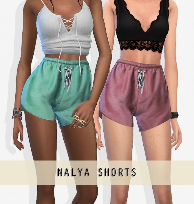 NALYA SHORTS At Grafity-cc » Sims 4 Updates