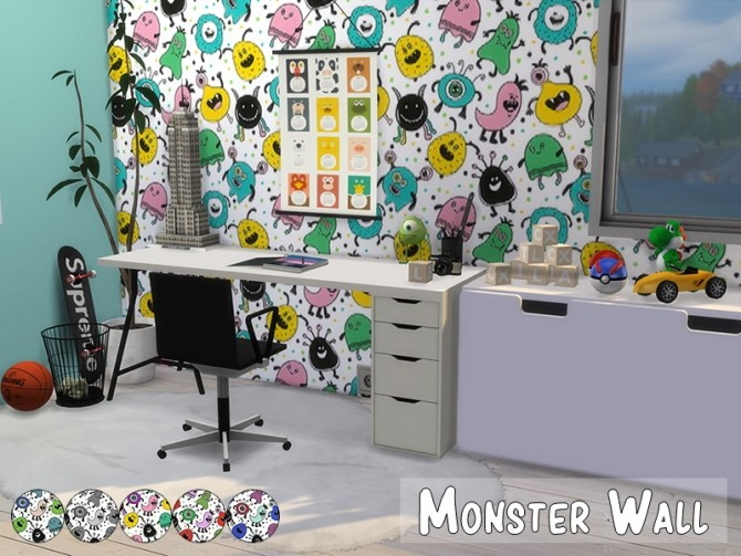 Monster Wall at MODELSIMS4 image 617 670x503 Sims 4 Updates