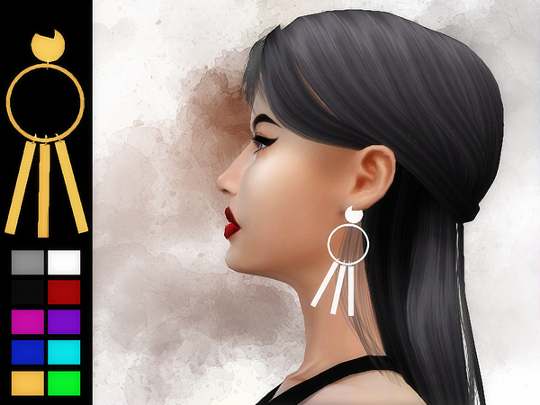 Old Marie Earrings by Sharareh at TSR image 620 Sims 4 Updates