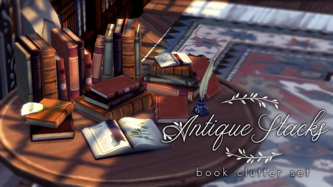 Antique Stacks Book clutter at Magnolian Farewell image 6212 670x377 Sims 4 Updates