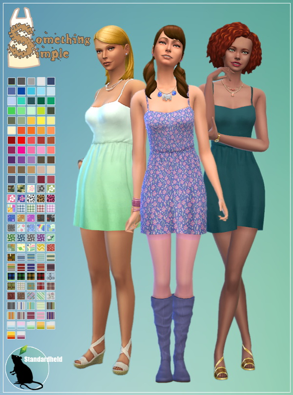 Something Simple Dress by Standardheld at SimsWorkshop image 6213 Sims 4 Updates