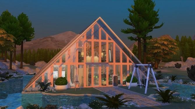 Sims 4 Glass Air Water cabin by Julia Engel at Frau Engel