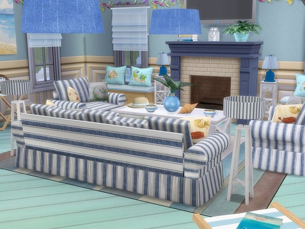 Sunny Vacation house by MychQQQ at TSR image 6224 Sims 4 Updates