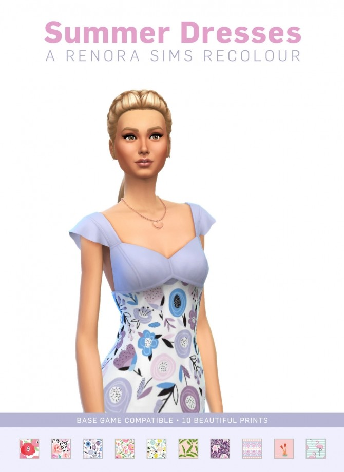 Sims 4 Summer Dresses at SimPlistic