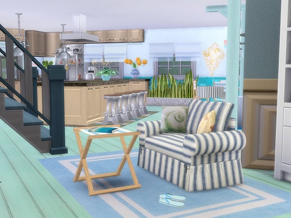 Sunny Vacation house by MychQQQ at TSR image 6322 Sims 4 Updates