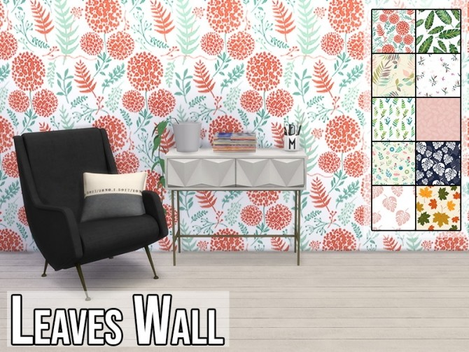 Leaves Wall at MODELSIMS4 image 6323 670x503 Sims 4 Updates