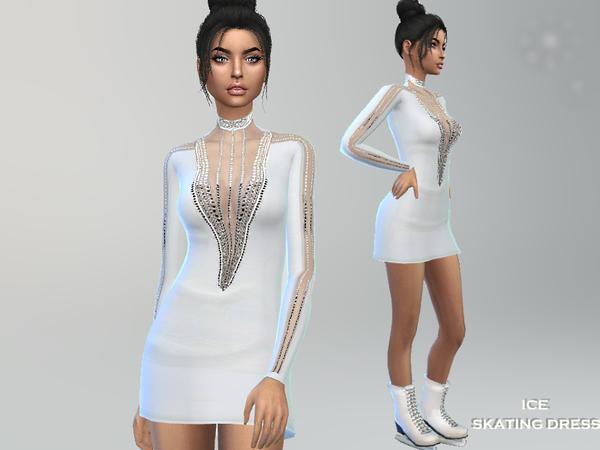 Ice Skating Dress by Puresim at TSR image 6421 Sims 4 Updates