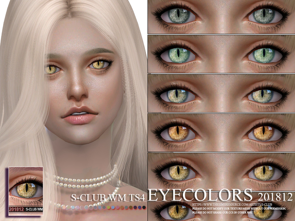 Sims 4 Eyecolors 201812 by S Club WM at TSR