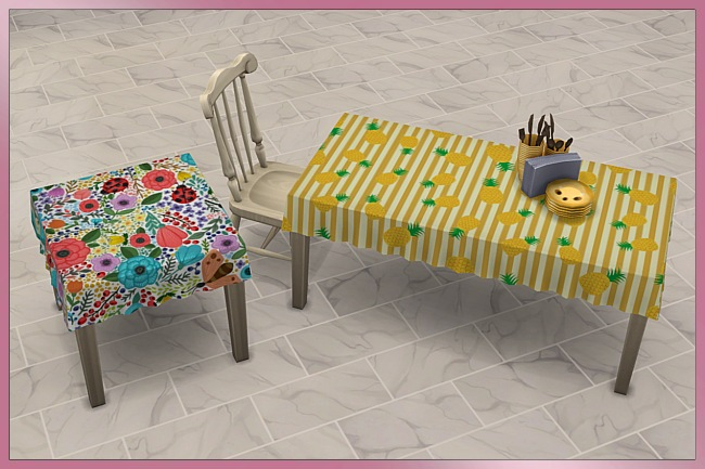 Happy Summer Tablecloth set by Cappu at Blacky's Sims Zoo image 6516 Sims 4 Updates