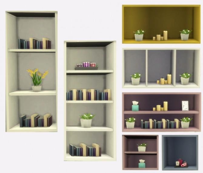 Sims 4 Stack Me Shelving at Simlish Designs
