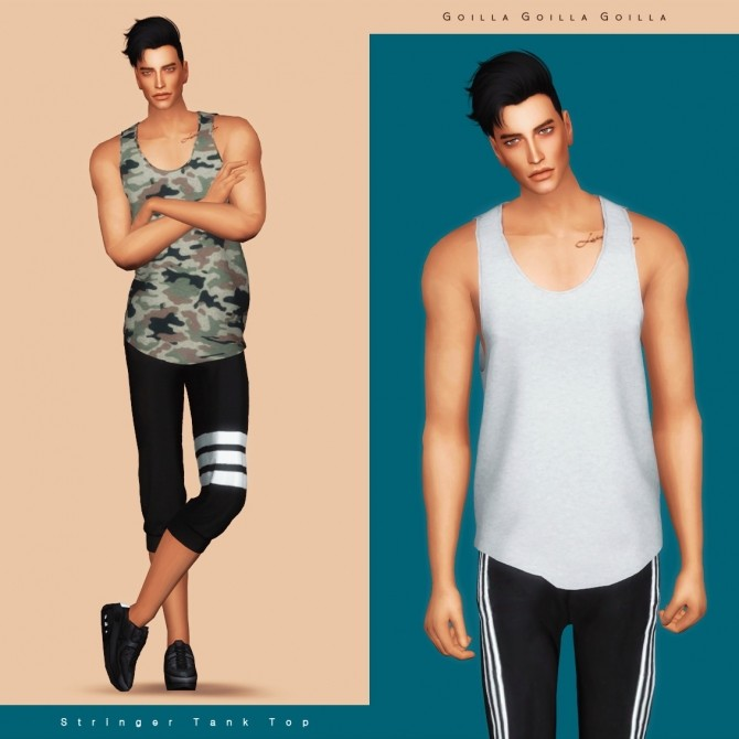 Stringer Tank Top at Gorilla image 652 670x670 Sims 4 Updates