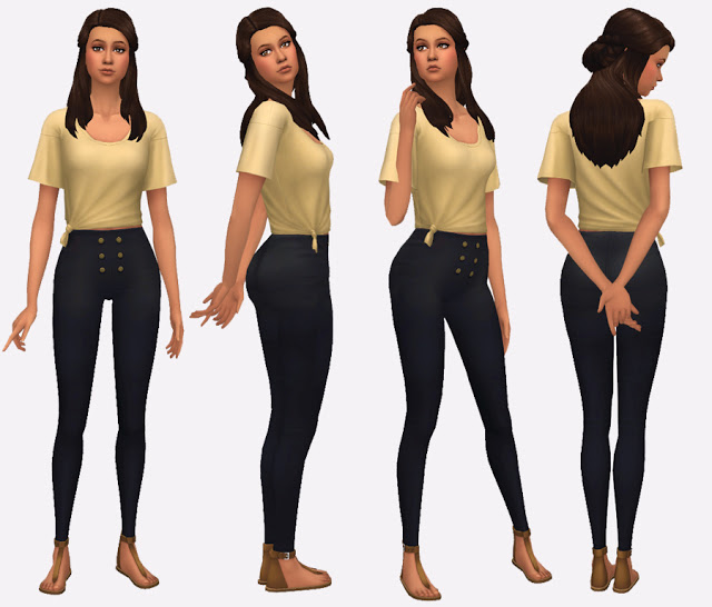 High Waisted Pants at Simista image 653 Sims 4 Updates