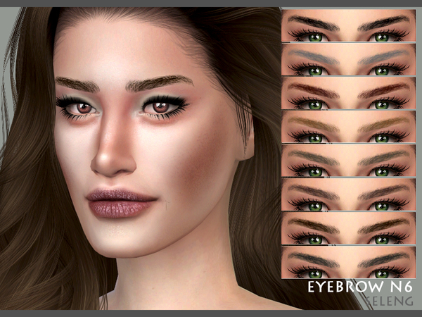 Sims 4 Eyebrows N6 (Female / Male) by Seleng at TSR