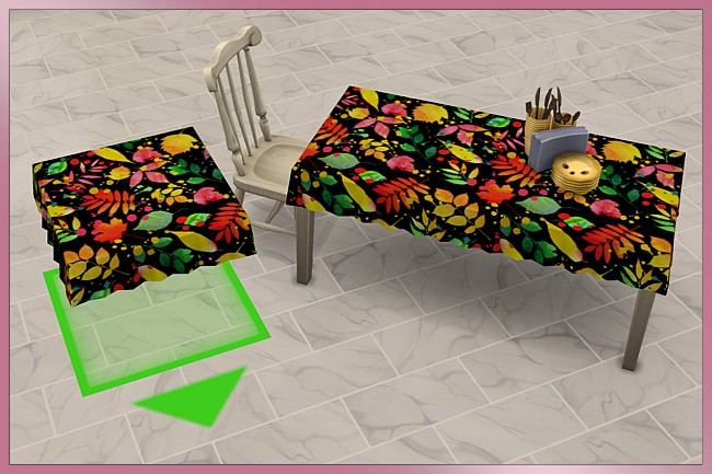 Sims 4 Happy Summer Tablecloth set by Cappu at Blacky's Sims Zoo