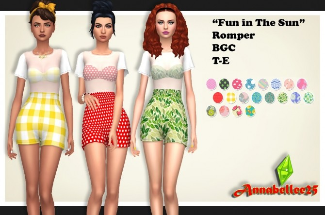 Fun in the Sun Romper by Annabellee25 at SimsWorkshop image 665 670x443 Sims 4 Updates
