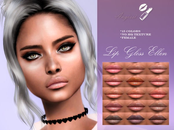 Lip Gloss ELLEN by ANGISSI at TSR image 667 Sims 4 Updates