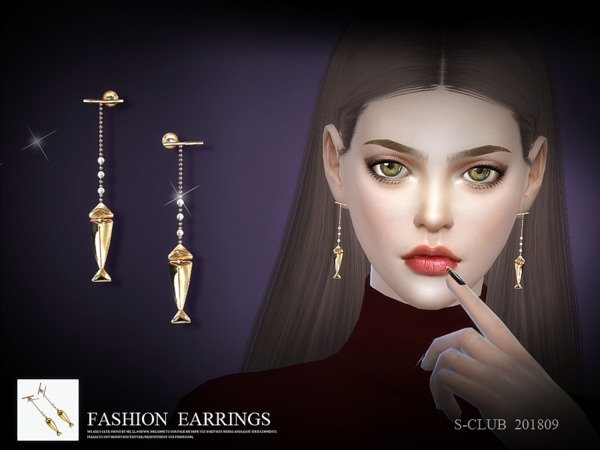 Sims 4 Earrings 201809 by S Club LL at TSR