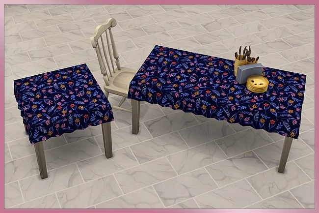 Happy Summer Tablecloth set by Cappu at Blacky's Sims Zoo image 6714 Sims 4 Updates
