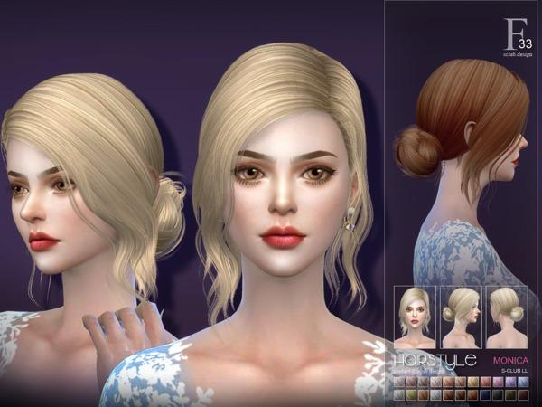 Sims 4 Monica n33 hair by S Club at TSR