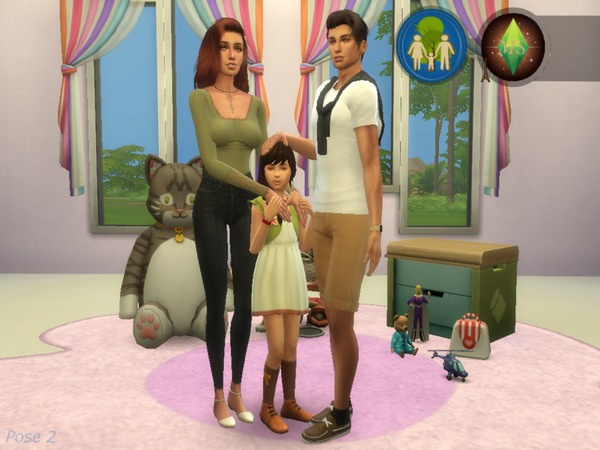 Sims 4 Our Small Happy Family posepack by MademSims at TSR