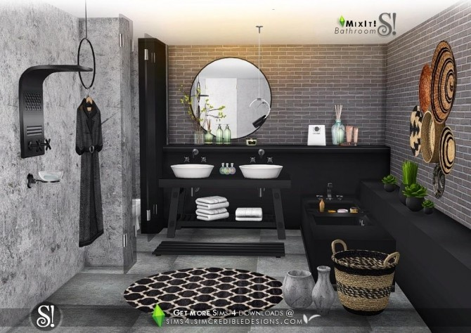 Mix It! bathroom set at SIMcredible! Designs 4 image 6812 670x474 Sims 4 Updates