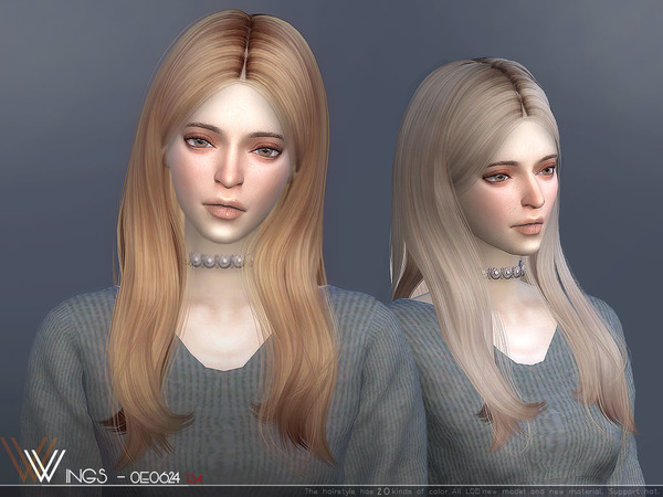 Hair OE0624 by wingssims at TSR image 6820 Sims 4 Updates