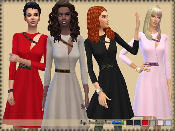 Sims 4 Dress by bukovka at TSR