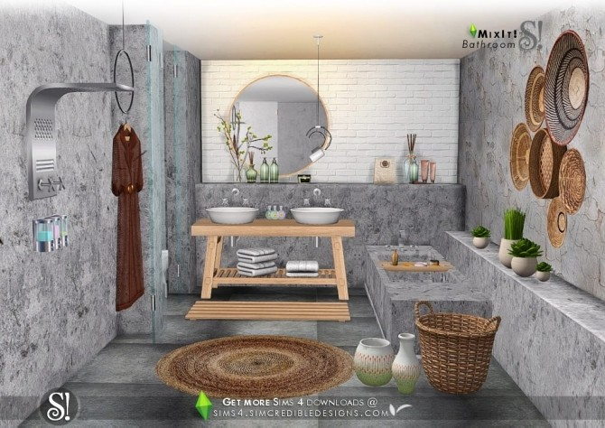 Mix It! bathroom set at SIMcredible! Designs 4 image 6911 670x474 Sims 4 Updates