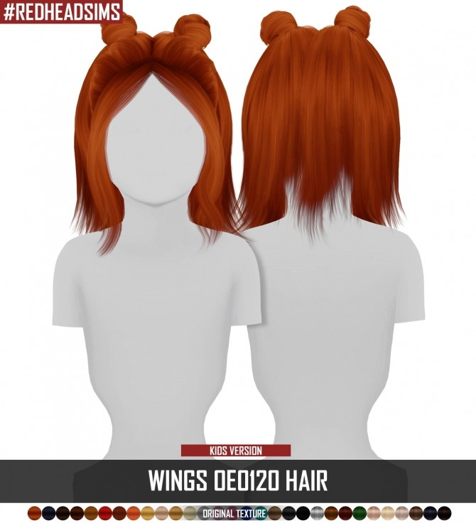 Sims 4 WINGS OE0120 HAIR KIDS VERSION by Thiago Mitchell at REDHEADSIMS