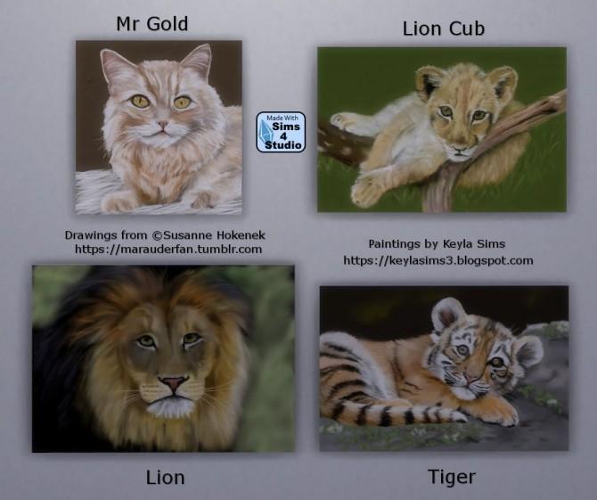 Susi Hokeneks paintings at Keyla Sims image 698 670x561 Sims 4 Updates