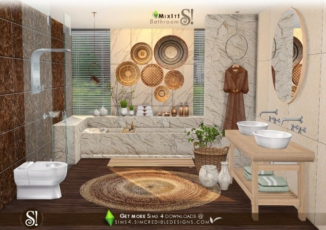 Mix It! bathroom set at SIMcredible! Designs 4 image 7011 670x474 Sims 4 Updates
