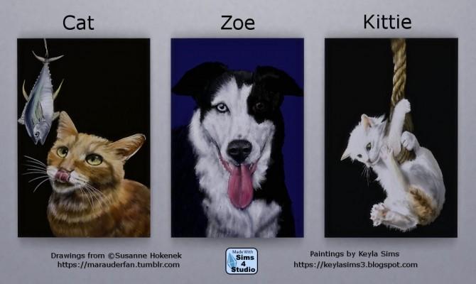 Susi Hokeneks paintings at Keyla Sims image 708 670x400 Sims 4 Updates