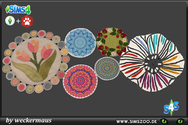 Outdoor Rugs by weckermaus at Blacky's Sims Zoo image 709 Sims 4 Updates