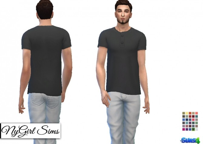 Side Cut Button Tee at NyGirl Sims image 7113 670x474 Sims 4 Updates