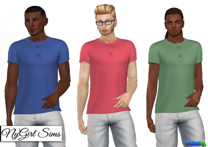 Side Cut Button Tee at NyGirl Sims image 7211 670x474 Sims 4 Updates
