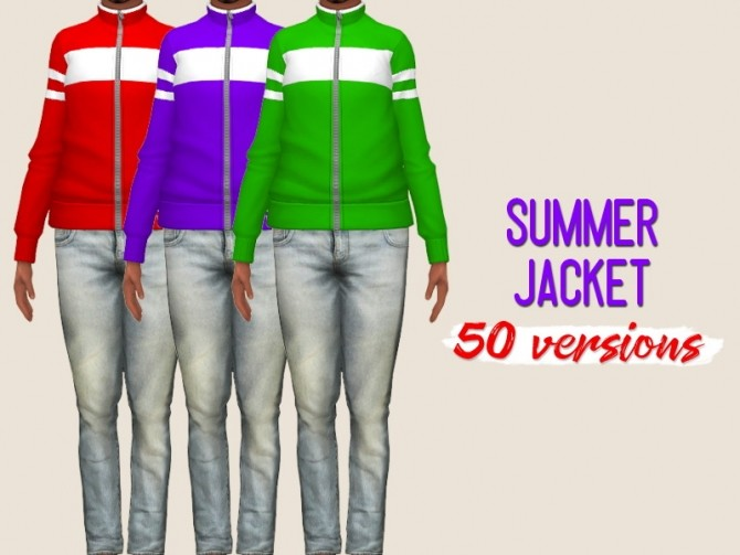 Sims 4 Summer jacket at Midnightskysims