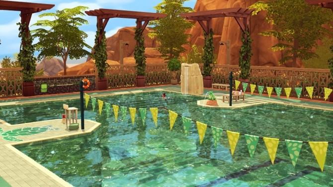Sims 4 Calico Community Pool at Jenba Sims