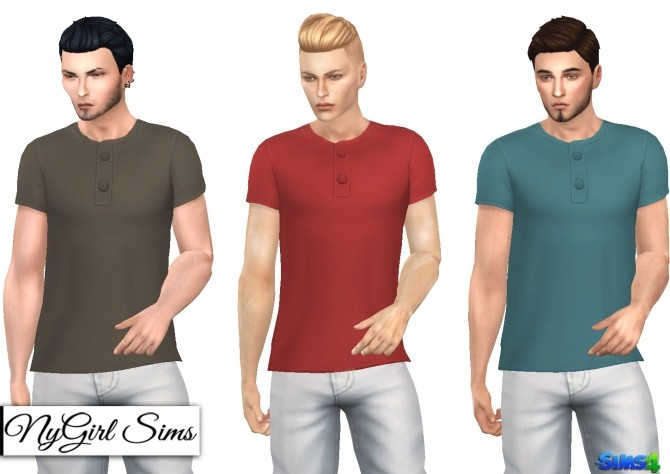 Side Cut Button Tee at NyGirl Sims image 7310 670x474 Sims 4 Updates