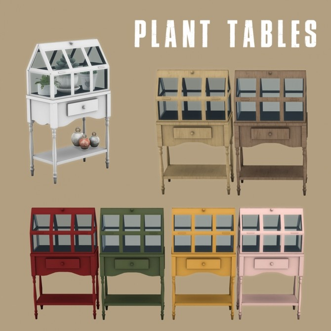 Sims 4 Plant Tables RC at Leo Sims