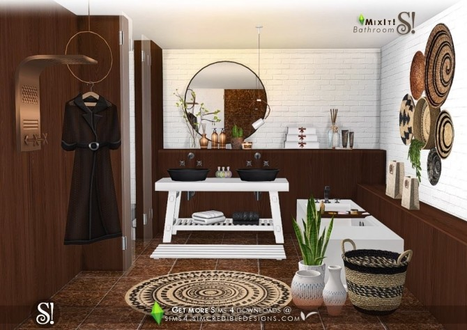 Mix It! bathroom set at SIMcredible! Designs 4 image 7412 670x474 Sims 4 Updates