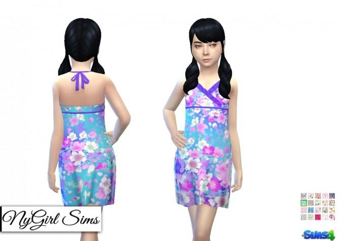 Sims 4 Asymmetrical Ruffle Sundress at NyGirl Sims