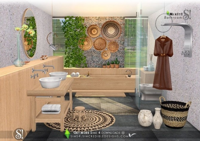 Mix It! bathroom set at SIMcredible! Designs 4 image 7512 670x474 Sims 4 Updates
