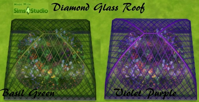 Sims 4 Glass Roof Set 7 Colours each Design by wendy35pearly at Mod The Sims