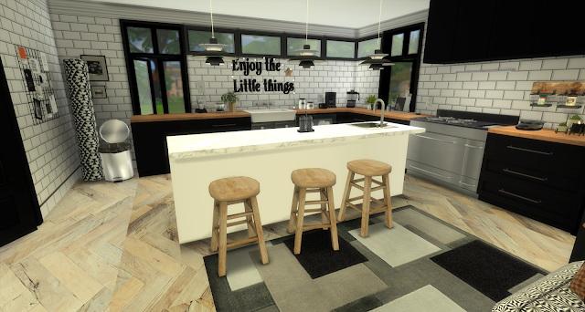 Audrina Black and White Kitchen at Pandasht Productions image 756 Sims 4 Updates