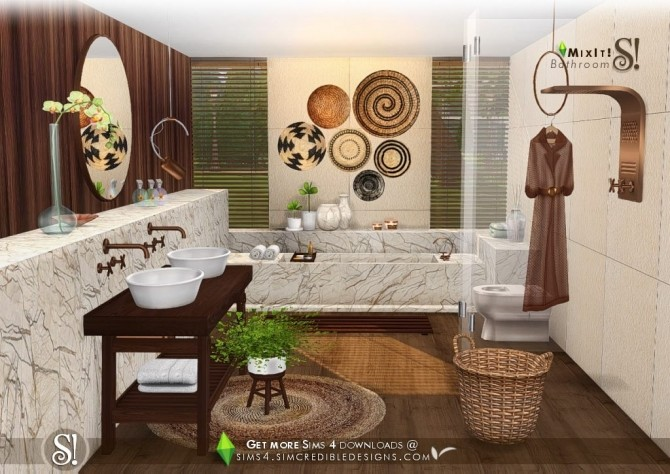 Mix It! bathroom set at SIMcredible! Designs 4 image 7612 670x474 Sims 4 Updates