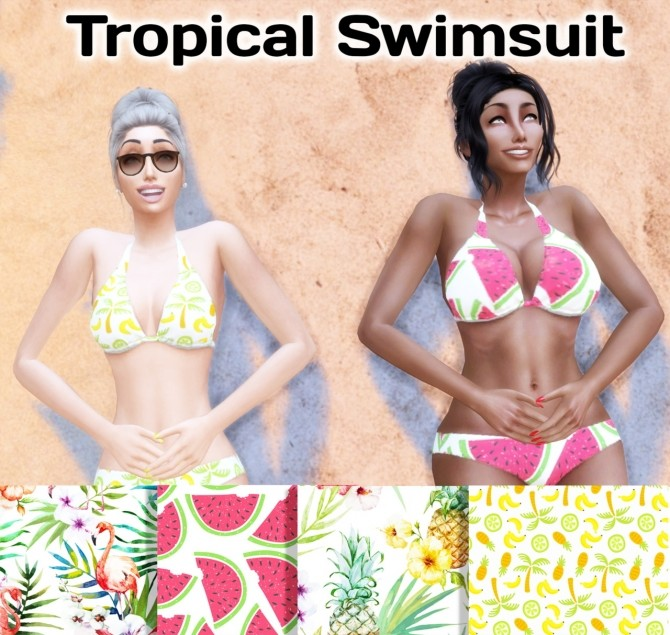Tropical Swimsuit at Simming With Mary image 768 670x635 Sims 4 Updates