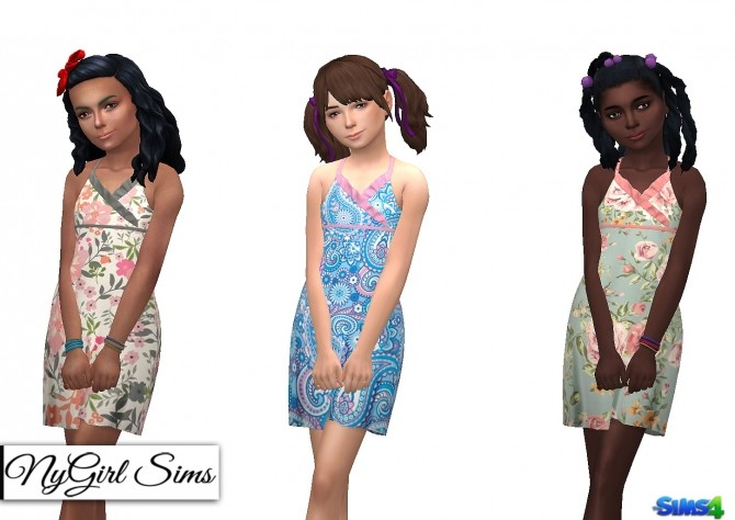 Asymmetrical Ruffle Sundress at NyGirl Sims image 769 670x474 Sims 4 Updates