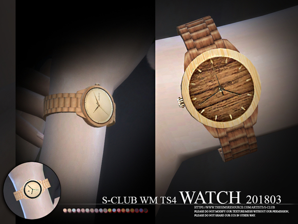 Sims 4 Watch 201803 by S Club WM at TSR