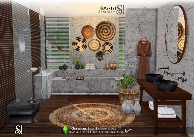 Mix It! bathroom set at SIMcredible! Designs 4 image 7712 670x474 Sims 4 Updates