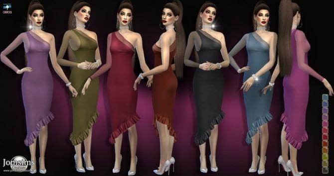 Sims 4 Raganiel dress at Jomsims Creations